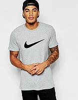Літня чоловіча футболка сіра Найк спортивна