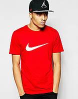 Червона Футболка  Nike трикотаж літо