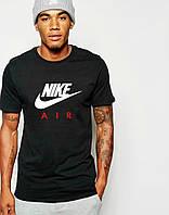 Футболка мужская Найк Nike трикотаж летняя черного цвета