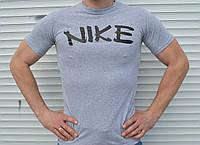 Серая мужская футболка Найк Nike недорого