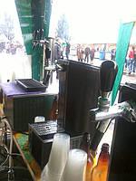 Работа пивного оборудования в полевых условиях (на пивном фестиве)