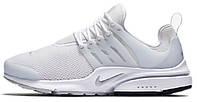 Мужские кроссовкиNike Air Presto White Pure Platinum, найк престо
