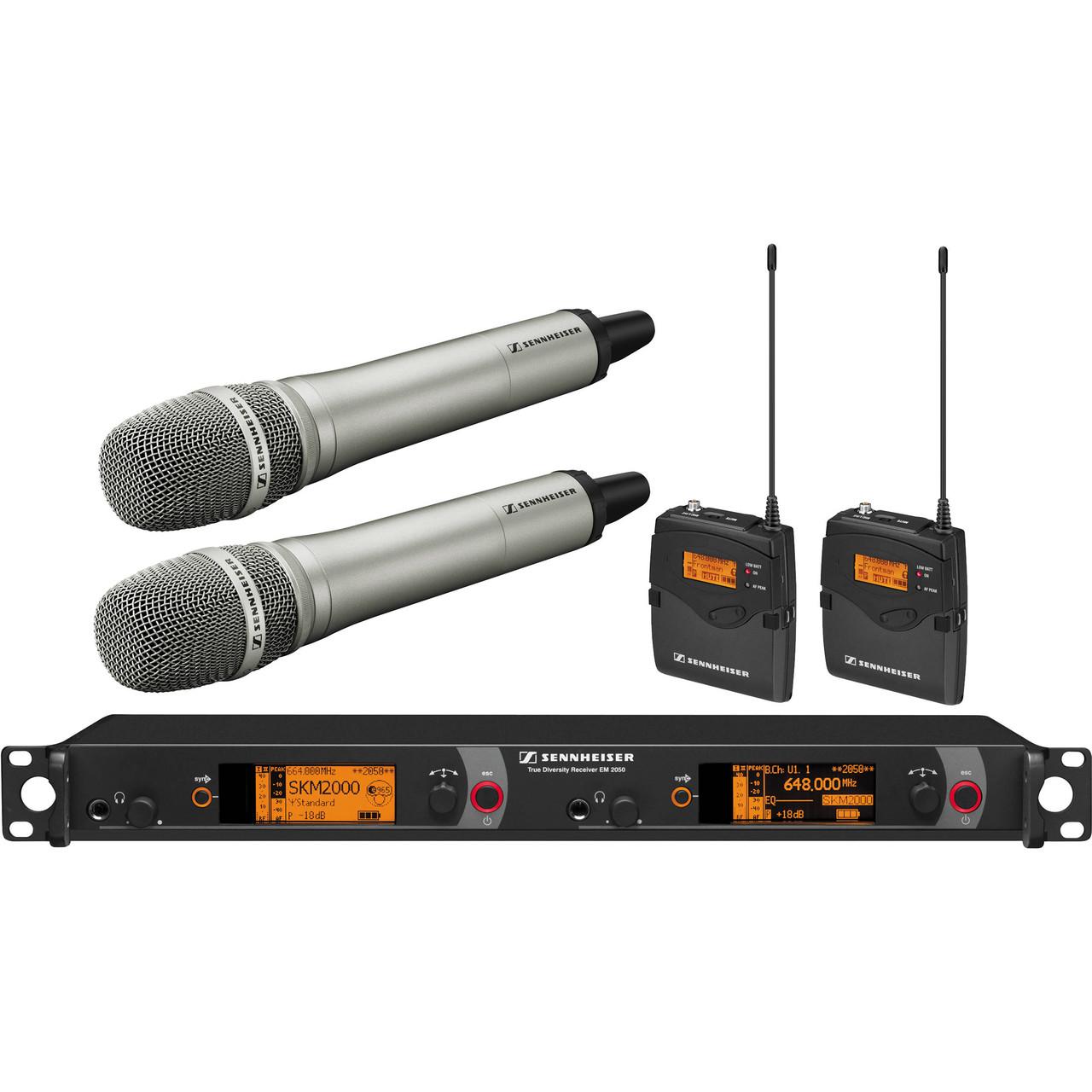 Беспроводная система Sennheiser 2000 Series Dual Combo с Neumann KK 204 Gw / 558 - 626MHz (2000C2-204NI-G)
