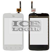 Сенсорный экран для мобильного телефона Fly IQ238, белый, original, #622Z83903350