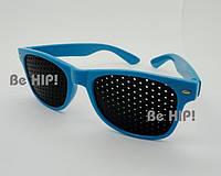 Очки тренажеры (очки  Федорова) для улучшения зрения. без чехла, синий