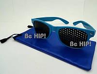 Очки тренажеры (очки  Федорова) для улучшения зрения. с чехлом, синий