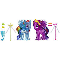 "My Little Pony Набор ""Кристальные пони"" Принцесса Искорка и Радуга Princess Twilight Sparkle & Rainbow Dash"