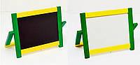 Мольберт настольный окрашенный  деревянный двухсторонний  с магнитной доской. (Арт. М-05)