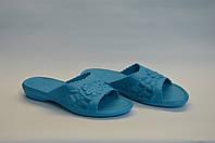Сланцы женские шлепанцы оптом летние ПЖ - 09 голубые, фото 1
