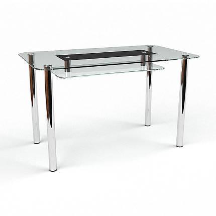 Стіл кухонний скляний Стар S-2, розмір 91х61 *Еко (Бц-Стіл ТМ), фото 2