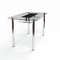 Стіл кухонний скляний Стар S-2, розмір 91х61 *Еко (Бц-Стіл ТМ), фото 3