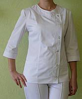 Медицинский костюм белый на кнопках