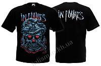 IN FLAMES (череп) - футболка (фирм.)