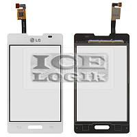 Сенсорный экран для мобильного телефона LG E440 Optimus L4x, белый