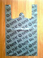 Полиэтиленовые пакеты майка SUPER BAG тип BMW 38х60 см/35 мкм, плотные