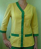 Медицинский костюм желто-зеленый под заказ