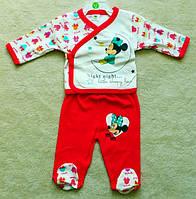 Пижама детская: распашонка и ползунки (штанишки) Минни Маус Disney