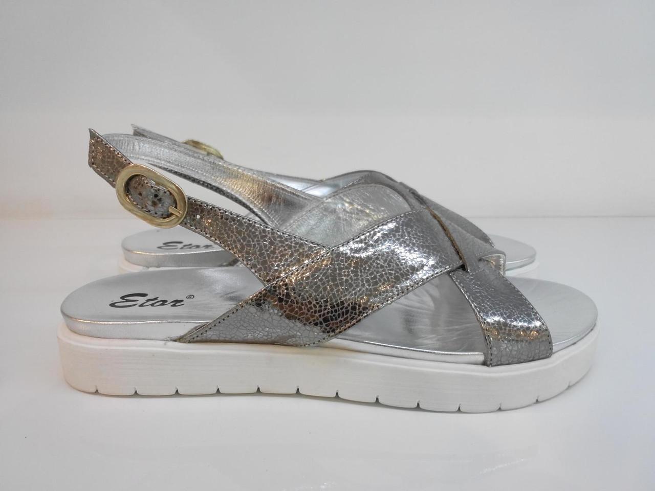 Босоніжки Etor 5358-56153-2 сріблясті