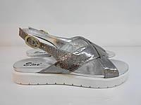 Босоніжки Etor 5358-56153-2 сріблясті, фото 1