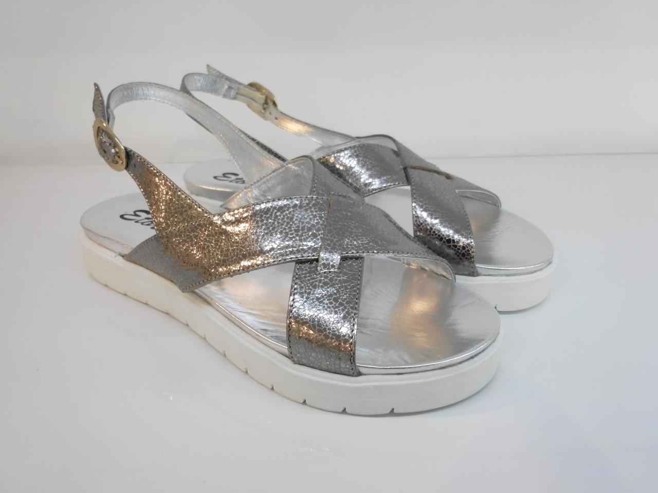 Босоніжки Etor 5358-56153-2 36 сріблясті
