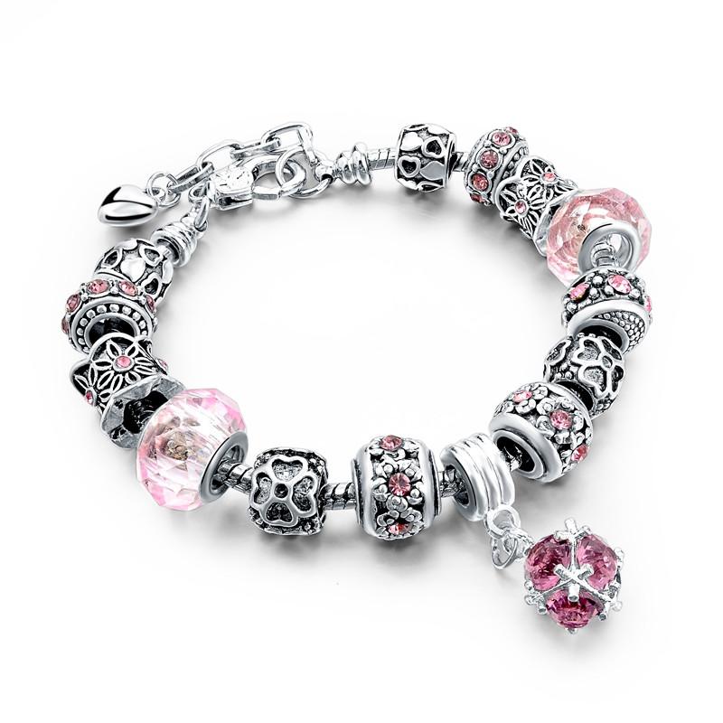 Браслет в стиле Pandora Розовый