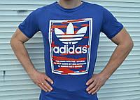 Мужская летняя футболка трикотаж  Адидас Adidas