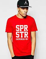 Стильная футболка Адидас красного цвета
