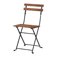 """""""IKEA"""" ТЭРНО"""" Садовый стул, складной акация черный, сталь серо-коричневая морилка"""