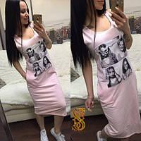 Платье женское розовое ОС/-618