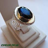 Кольцо серебряное православное Крест 30163