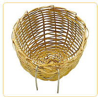 Плетеное гнездо для птиц. 8,6*5 см. PA 4455.