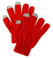 Перчатки для сенсорных телефонов, красные Перчатки для сенсорных телефонов, красные