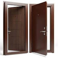 Двери входные Apecs в М/МДФ 860 мм. Орех