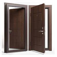 Двери входные Apecs в МДФ/МДФ 860 мм. Орех