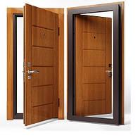 Двери входные Apecs в МДФ/МДФ 960 мм. Золотой дуб