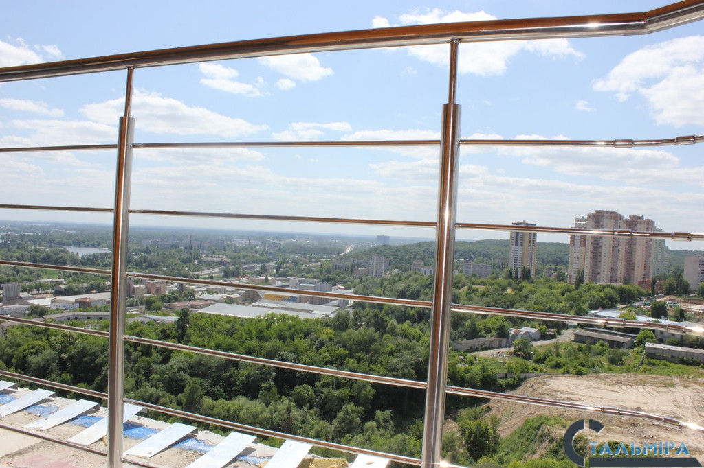 Перила из нержавеющей стали: проектирование, изготовление, монтаж по ул. Ракетной г. Киев