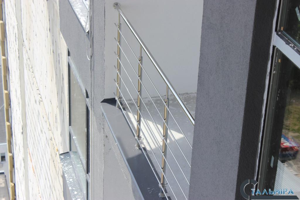 Перила из нержавеющей стали: проектирование, изготовление, монтаж по ул. Ракетной г. Киев 2