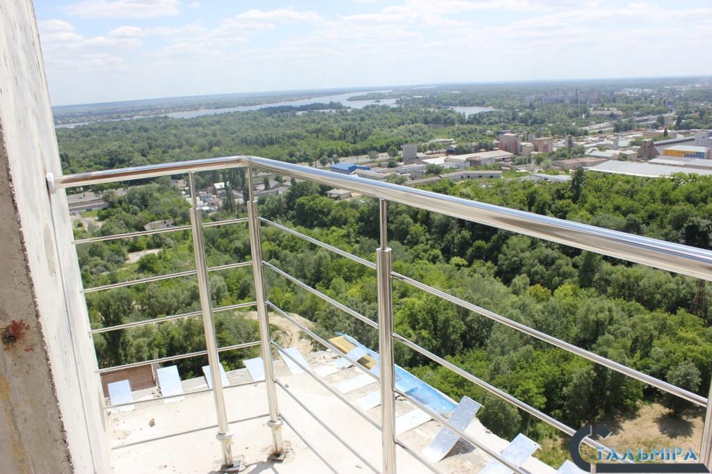 Перила из нержавеющей стали: проектирование, изготовление, монтаж по ул. Ракетной г. Киев 4