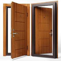 Двери входные Apecs в МДФ/МДФ 860 мм. Золотой дуб