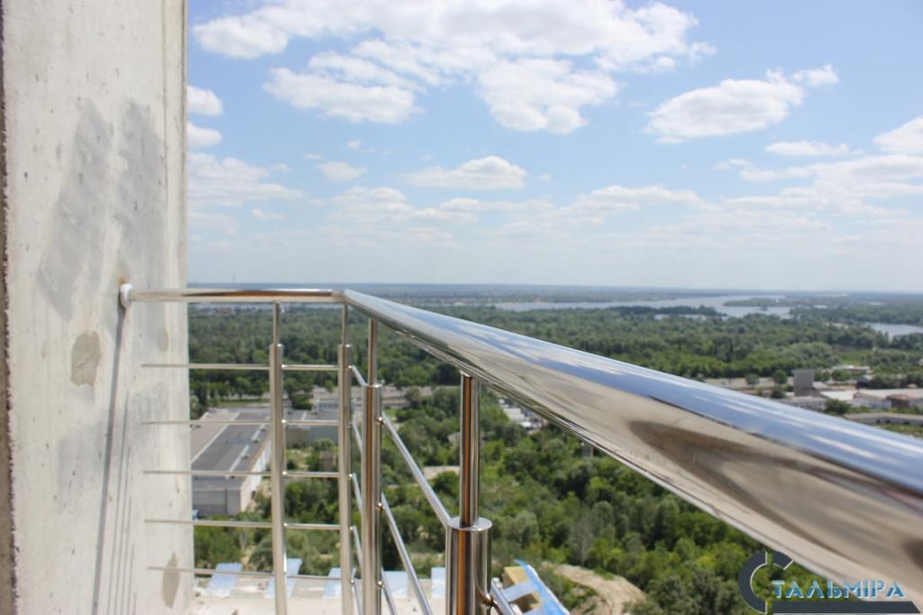 Перила из нержавеющей стали: проектирование, изготовление, монтаж по ул. Ракетной г. Киев 5