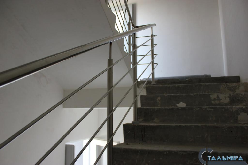 Перила из нержавеющей стали: проектирование, изготовление, монтаж по ул. Ракетной г. Киев 7