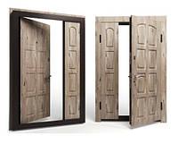 Двери входные Apecs в МДФ/МДФ Премьер 1200 мм. Сосна