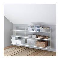 """IKEA """"АЛЬГОТ"""" Настенная шина/полки, белый, 190x40x84 см"""