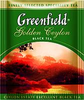 Чай Гринфилд черный Golden Ceylon 100 пакетиков ХоРеКа