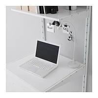 """IKEA """"АЛЬГОТ"""" Настенная шина/полки, белый, 65x60x196 см"""