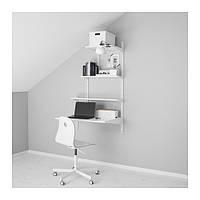 """IKEA """"АЛЬГОТ"""" Настенная шина/полки, белый, 86x60x140 см"""