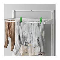 "IKEA ""АЛЬГОТ"" Настенная шина/полки/сушилка, белый, 65x60x196 см"