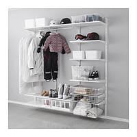"""IKEA """"АЛЬГОТ"""" Настенная шина/полки/штанга, белый, 190x40x190 см"""