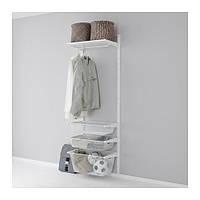 "IKEA ""АЛЬГОТ"" Настенная шина/сетчатые корзины, белый, 65x40x196 см"