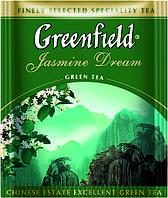 Чай Гринфилд зеленый Jasmine Dream 100 пакетиков ХоРеКа